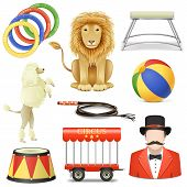 image of lion  - Circus Icons Set 3 - JPG