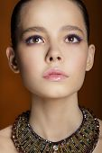 pic of hottie  - Studio Portrait of Young Gentle Fashion Model - JPG