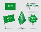 stock photo of arabian  - Set of Saudi Arabian pin - JPG