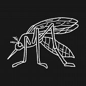 picture of gnat  - Mosquito Doodle - JPG