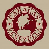 pic of bolivar  - Caracas Venezuela Seal - JPG