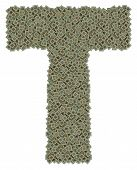 picture of microprocessor  - letter T made of made of huge amount of old and dirty microprocessors - JPG