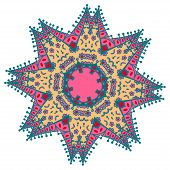 picture of holi  - Hand drawing zentangle color element - JPG