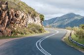 pic of passed out  - Robinson Pass over the Outeniqua Mountains between Mosselbay and Oudtshoorn in the Western Cape Province of South Africa - JPG