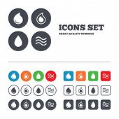 stock photo of drop oil  - Water drop icons - JPG