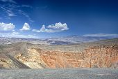 stock photo of cottonwood  - Geological Formations in Ubehebe Volcano in Death Valley National Park - JPG