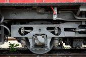 stock photo of locomotive  - Detail of an old locomotive - JPG