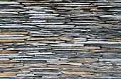 pic of fortified wall  - pattern of decorative slate stone wall surface - JPG