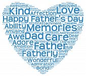 foto of role model  - Isolated image of tag clouds in the shape of blue heart related to Father - JPG