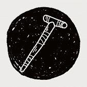 picture of crutch  - Crutch Doodle - JPG