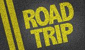 stock photo of road trip  - Road Trip written on the road - JPG