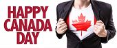 pic of happy day  - Canada guy with the Canadian flag and the text - JPG