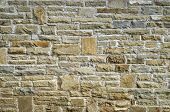image of tile cladding  - New stone cladding plates on the wall closeup - JPG
