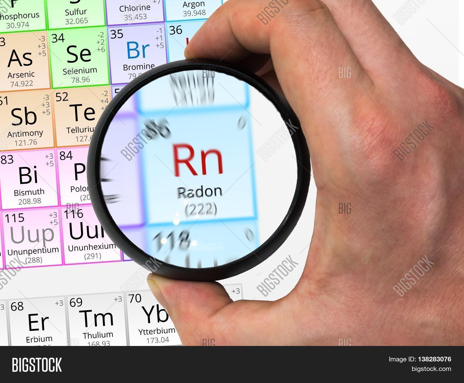 Radon symbol rn element periodic image photo bigstock radon symbol rn element of the periodic table zoomed with mag gamestrikefo Images