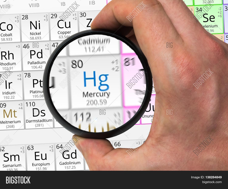 Mercury symbol hg element image photo bigstock mercury symbol hg element of the periodic table zoomed with m gamestrikefo Choice Image