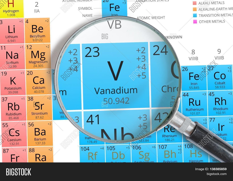 Vanadium symbol v element image photo bigstock vanadium symbol v element of the periodic table zoomed with m urtaz Images