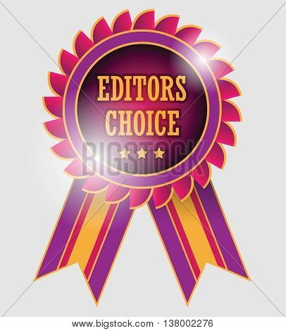 Abstract Editors choice label or seal, vector illustration