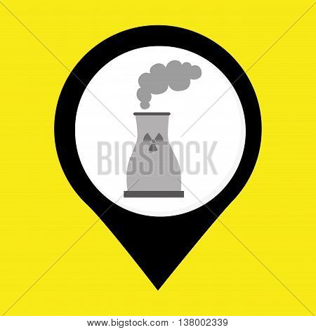 nuclear energy isolated icon design, vector illustration  graphic