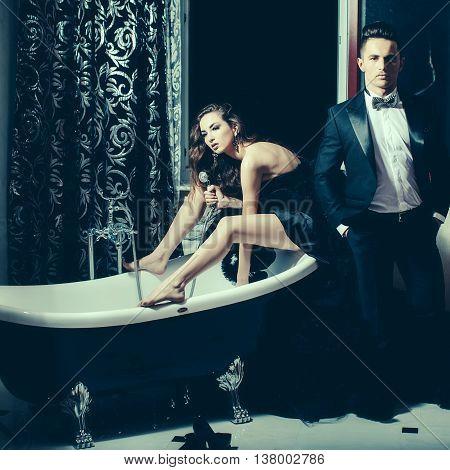 Elegant Couple In Bath