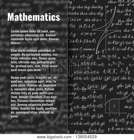 Abstract Math Background Behind Matt Glass Banner