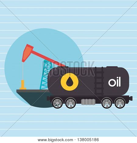Oil truck isolated icon design, vector illustration  graphic