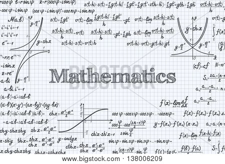 Mathematical Vector Pattern Background In Notebook