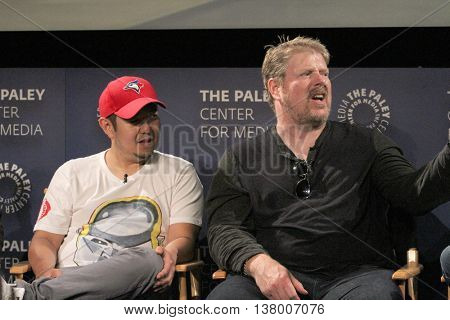 Eric Bauza and John DiMaggio speak at the at the