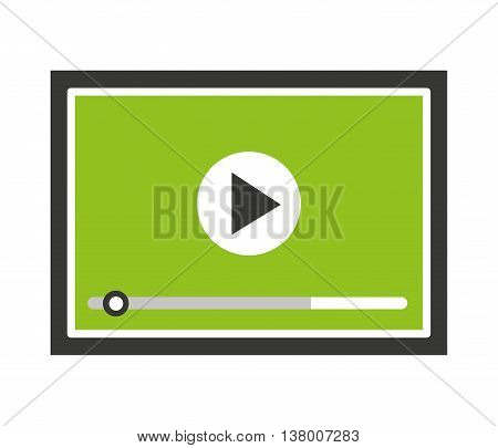 media player isolated icon design, vector illustration  graphic
