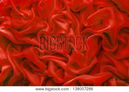 Fabric Waves Background Cloth Wave Red Satin Abstract Clothes