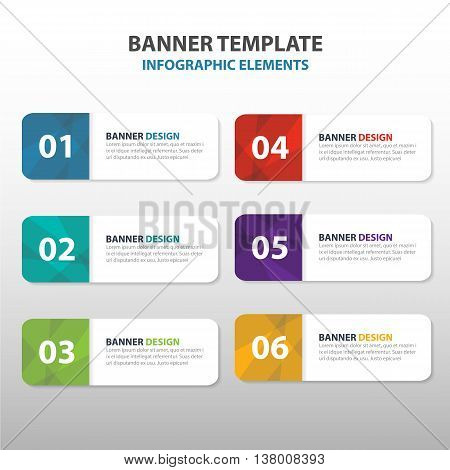 Colorful triangle abstract corporate business banner template horizontal advertising infographic layout template flat design set clean abstract cover header background for website design