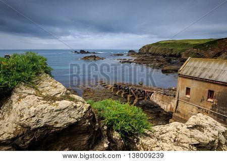Lizard Point Old Lifeboat Station the Lizard Cornwall UK.
