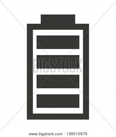 full  Battery status isolated icon design, vector illustration  graphic