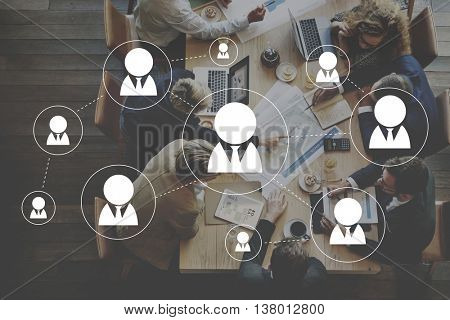 Social Networking Sharing Communication Media Concept