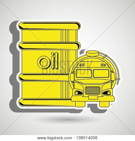 Gasoline truck isolated icon design, vector illustration  graphic