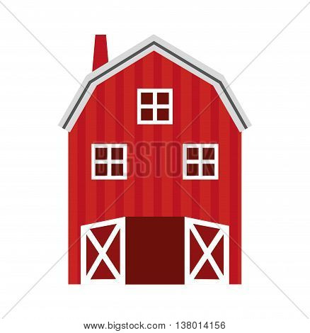 stable farm isolated icon design, vector illustration  graphic