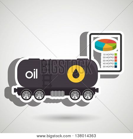 truck petroleum isolated icon design, vector illustration  graphic