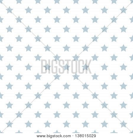 seamless pattern of stars. Blue stars on a white background. Vector. textile background packaging printing website