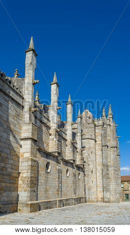Facade Of The Guarda Cathedral. Portugal.