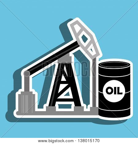 barrel and petroleum isolated icon design, vector illustration  graphic