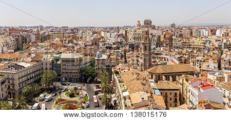 Valencia -june 24: Santa Catalina Tower On June 24 2016 In Valencia, Spain. Santa Catalina The Churc