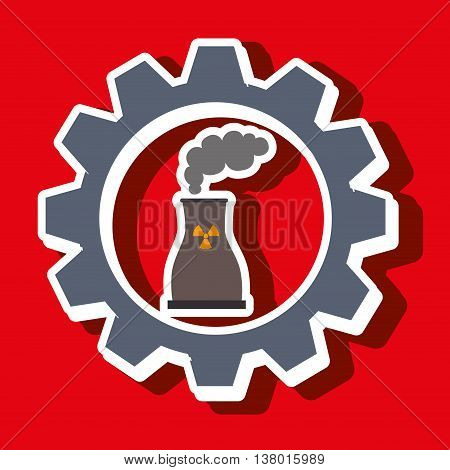 signal of reactor isolated icon design, vector illustration  graphic