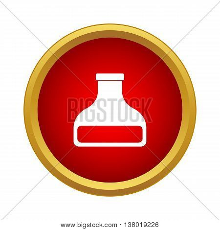 Bottle of tincture icon in simple style in red circle. Medicine symbol