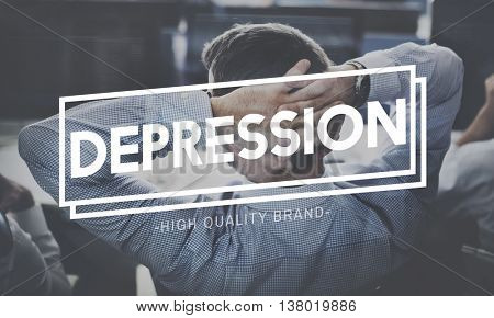 Thinking Crisis Analyse Depression Problem Concept