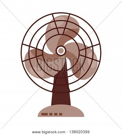 electric fan isolated icon design, vector illustration  graphic