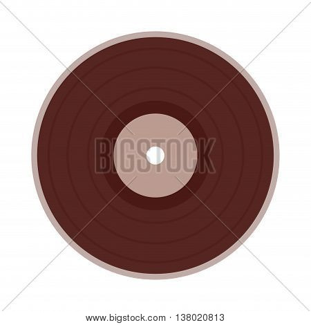 vinyl disc isolated icon design, vector illustration  graphic