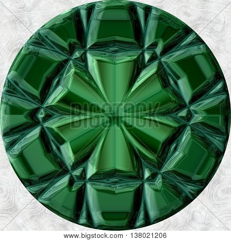 Green malachite orb can be used as pendant underlay