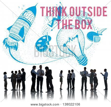 Think Outside The Box Ideas Creativity Imagination Concept