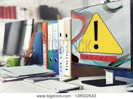 Error Disconnect Warning Failure Concept