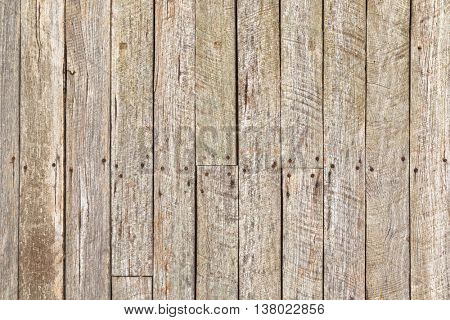 Rustic weathered barn wood with rusty nails, Background texture photo of natural wood.