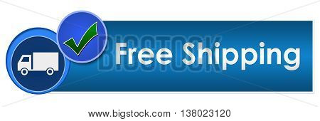 Free shipping concept image with text and related symbol.